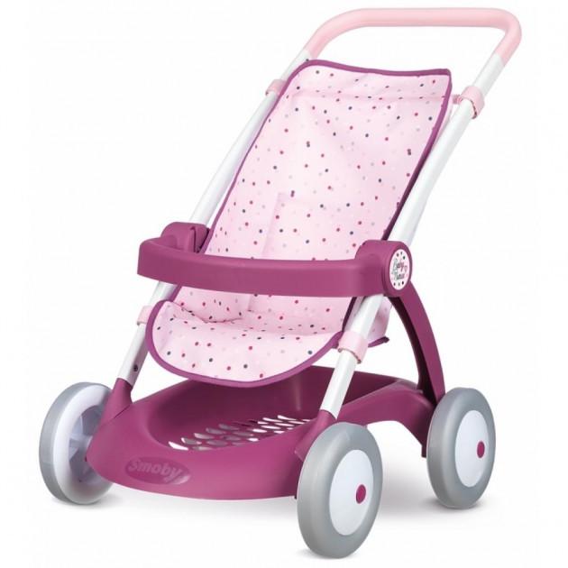 "Коляска для прогулянок ""Прованс"" (висота до ручки 58см) Smoby Baby Nurse 18+ (254003)"