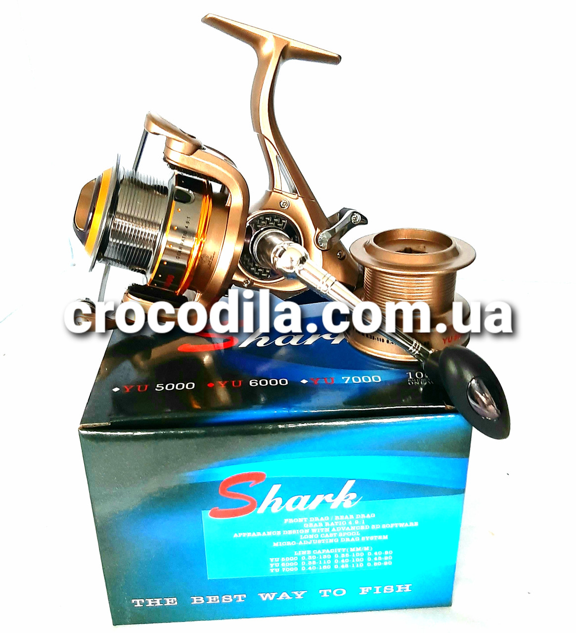 Карповая катушка с бейтранером Shark YU 6000 9+1