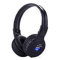 Безпровідні навушники з MP3 плеєром радіо і LED дисплей знімний акумулятор N65BT Black