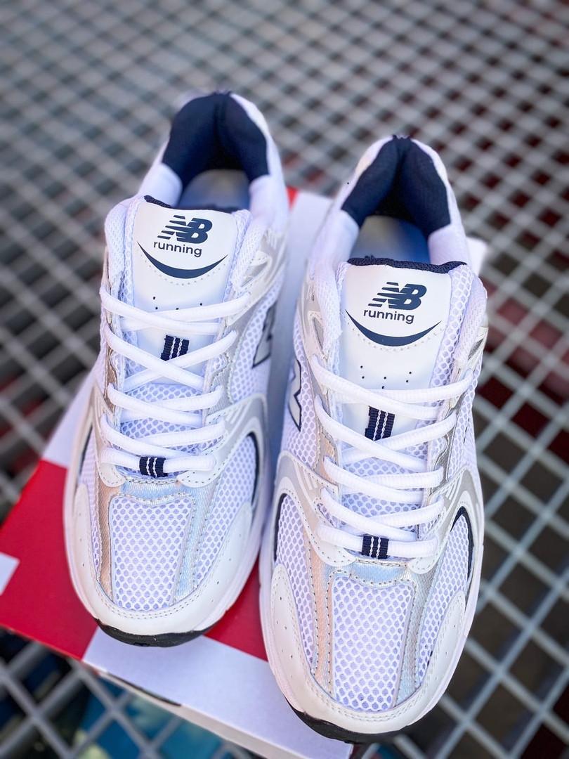 Кроссовки мужские New Balance 530 White/Silver. Стильные мужские кроссовки.