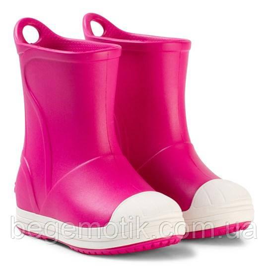 CROCS Детские резиновые сапоги КРОКС розовые J1 (евро 32-33), Crocs Bump It Boot Candy Pink