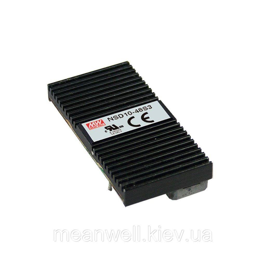 NSD10-48S5 Блок питания Mean Well DC DC преобразователь вход 22 ~ 72VDC, выход 5в, 2A