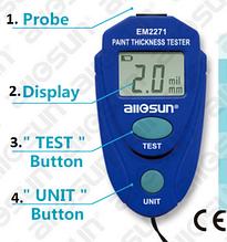 Толщиномер EM2271 тестер индикатор толщины лакокрасочных покрытий
