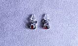 Серьги - гвоздики с камнями фирмы Xuping (Rhodium color ХР1016, 6мм Т0280 красные), фото 3