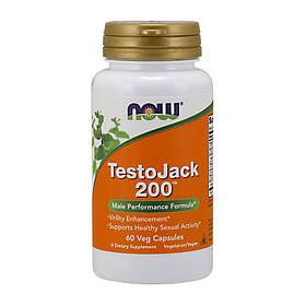 Комплекс для повышения тестостерона NOW Testo Jack 200 60 veg caps