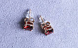 Стильні сережки фірми Xuping (color ХР1016, 8мм Т0390 червоні), фото 2