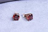 Стильні сережки фірми Xuping (color ХР1016, 8мм Т0390 червоні), фото 3