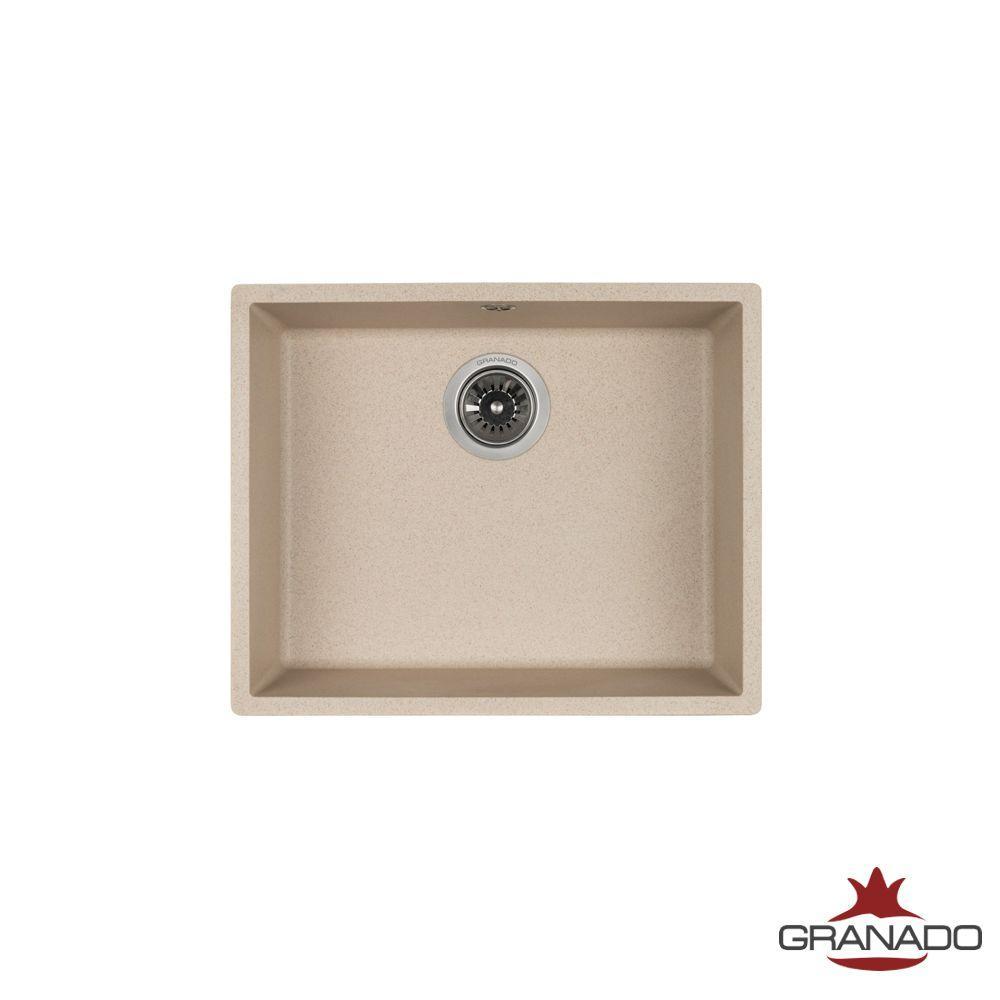 Кухонная мойка интрегрированная ГРАНИТ с евросифоном 535*435 мм Granado Under top Max Terra 3003