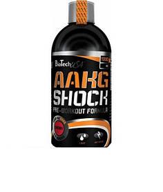 Предтренировочний комплекс BioTech AAKG Shock Extreme (1 L)