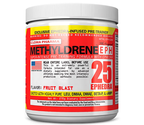 Предтренировочний комплекс Cloma Pharma Methyldrene EPH 270 g