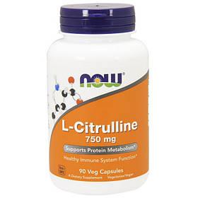 Предтренировочний комплекс NOW L-Citrulline 750 mg 90 veg caps