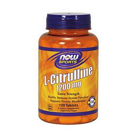 Предтренировочний комплекс NOW Citrulline 1200 mg 120 tabs