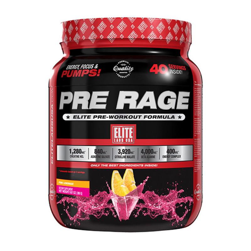 Предтренировочный комплекс ELITE Labs Pre Rage 280 g