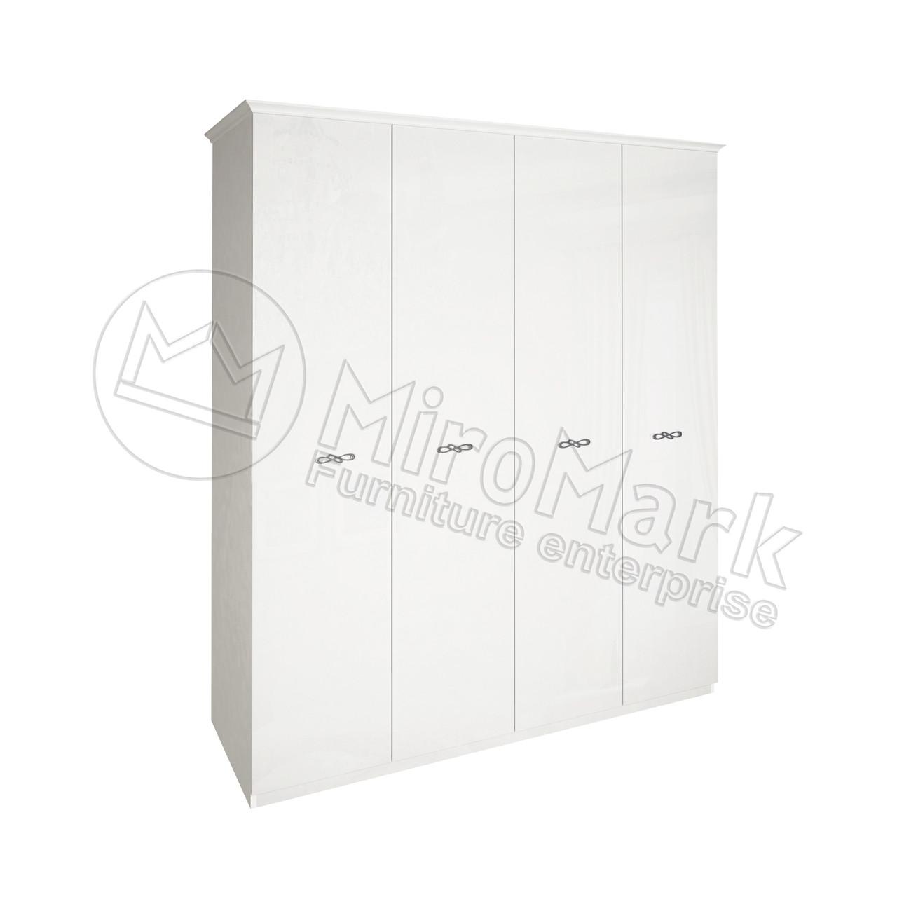 Шкаф Прованс 4 дв без зеркал Глянец белый ТМ Миро-Марк