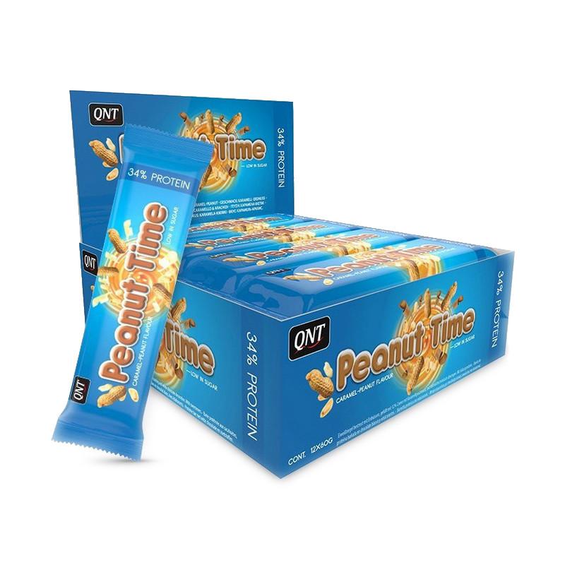 Протеїновий енергетичний батончик QNT Peanut Time bar 60 g