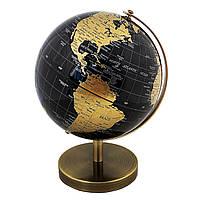 Глобус 14,2 см см Черно- Золотой