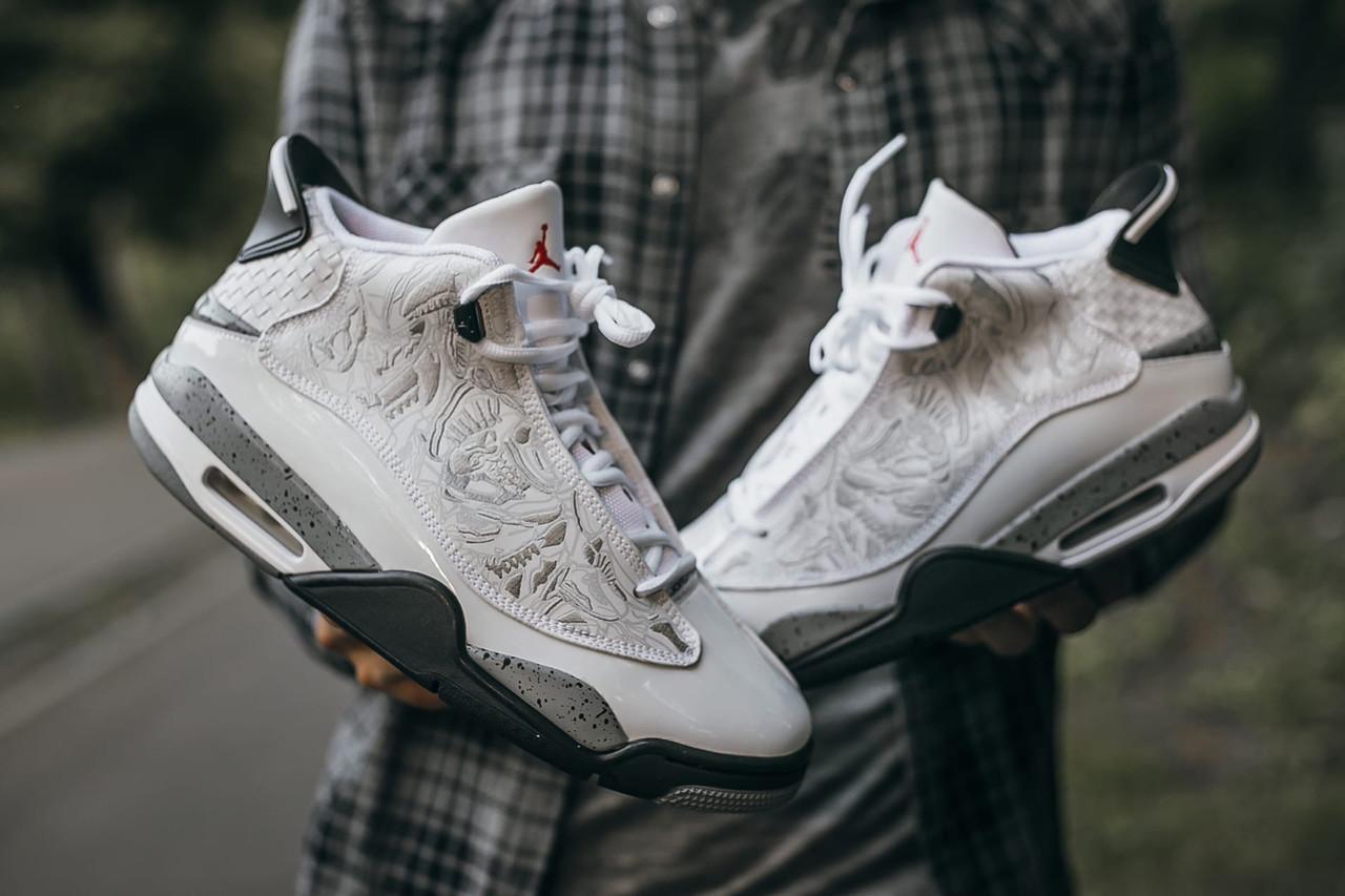 Мужские кроссовки Air Jordan Dub Zero Белые, Реплика