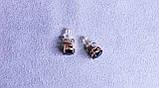 Сережки фірми Xuping з чорними каменями (color ХР1016, 8мм Т0390 чорні), фото 5