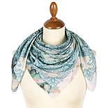 10292-11, павлопосадский платок из вискозы с подрубкой 80х80, фото 2
