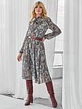 Шифоновое платье-миди с длинным рукавом, фото 5