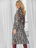 Шифоновое платье-миди с длинным рукавом, фото 8