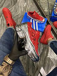 Женские кроссовки Adidas Raf Simons Red Silver Metallic (красные)