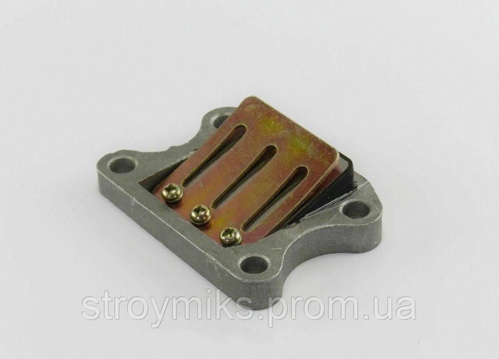 Лепестковый клапан Honda Dio AF-18/25/27 /28/FIT/Tact AF-24/30/ 31/LeadAF-20/05 Алюминиевый(резиновая пастель)