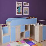"""Дитяче ліжко горище з робочою зоною """"Астра міні"""" Ліжко-горище з столом. 2323*832*1082 ЛДСП, фото 2"""