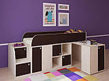 """Дитяче ліжко горище з робочою зоною """"Астра міні"""" Ліжко-горище з столом. 2323*832*1082 ЛДСП, фото 4"""