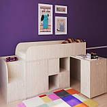 """Дитяче ліжко горище з робочою зоною """"Астра міні"""" Ліжко-горище з столом. 2323*832*1082 ЛДСП, фото 5"""
