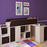 """Дитяче ліжко горище з робочою зоною """"Астра міні"""" Ліжко-горище з столом. 2323*832*1082 ЛДСП, фото 6"""