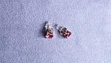 Серьги - гвоздики  фирмы Xuping позолота ( color ХР1016, 8мм Т0390 розовые), фото 3