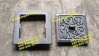 Сажетруска чугунная дверка прочистная люк для золы (130х130) печи, мангал, барбекю