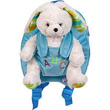 Рюкзак дитячий Stip Молдова для садочка з м'якою іграшкою Зайчиком