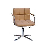 Кресло Arno-Arm Modern Base бежевый 1009 экокожа, с подлокотникаими на стопах с регулировкой высоты