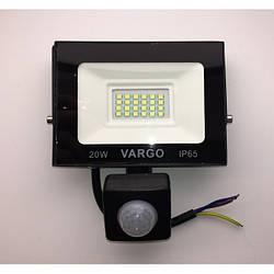20W 6500K прожектор з датчиком руху VARGO, LED 220v (V-330320)