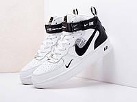 Мужские высокие кроссовки Nike Air Force 1 07 Mid LV8 (бело-черные) D24