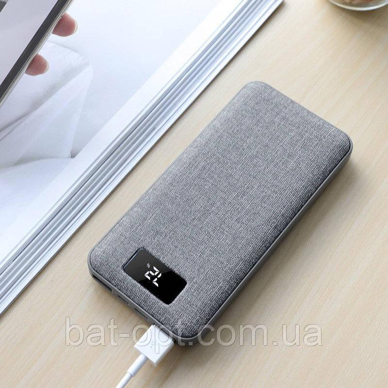 Внешний аккумулятор Hoco J47 Element PD+QC3.0 10000 mAh серый