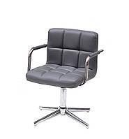 Кресло Arno-Arm Modern Base серый 1001 экокожа, с подлокотникаими на стопах с регулировкой высоты