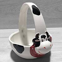 Конфетница керамическая Веселая коровка, фото 1