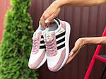 Женские кроссовки Adidas Iniki (бело-розовые с черным) 9775, фото 2
