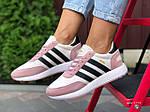 Женские кроссовки Adidas Iniki (бело-розовые с черным) 9775, фото 3