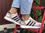 Женские кроссовки Adidas Iniki (бело-розовые с черным) 9775, фото 4
