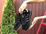 Женские кроссовки Adidas Iniki (черно-оранжевые) 9776, фото 2