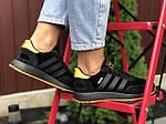 Женские кроссовки Adidas Iniki (черно-оранжевые) 9776, фото 4