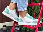 Женские кроссовки Adidas Iniki (бело-мятные) 9777, фото 2