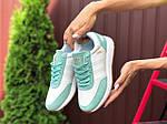 Женские кроссовки Adidas Iniki (бело-мятные) 9777, фото 3