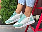 Женские кроссовки Adidas Iniki (бело-мятные) 9777, фото 4