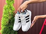 Женские кроссовки Adidas Iniki (бело-черные) 9781, фото 2