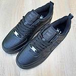 Женские кроссовки Nike Air Force (черные) 20201, фото 5